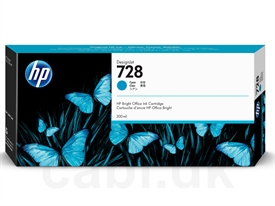 HP No. 728 DesignJet Ink Cartridge F9K17A